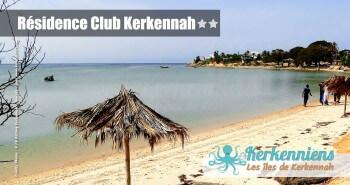 vue sur la plage hôtel Résidence Club Kerkennah Tunisie