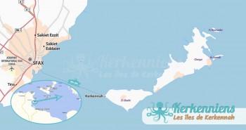 Iles de Kerkennah Gouvernorat de Sfax Tunisie